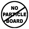 No Particle board Logo