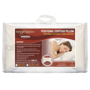 Positional Contour Pillow Image In Bag Available In Latex Or Angel Silk Down Like Fiber Fill