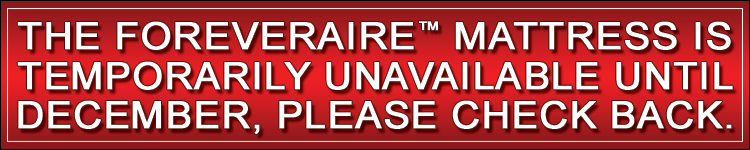 Foreveraire Mattress Temporarily Unavailable Banner DECEMBER