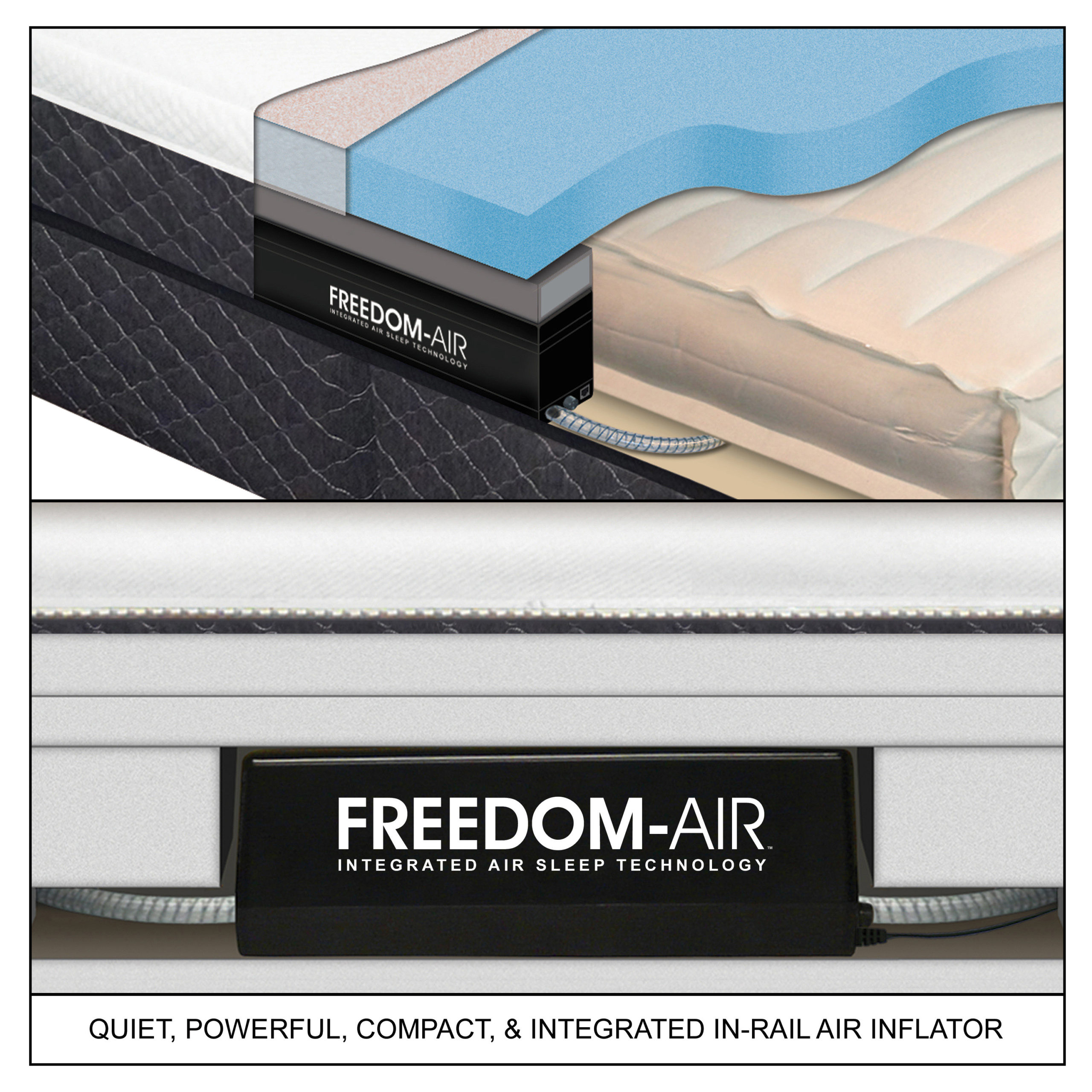 Picture of: Fusion Digital Air Bed Featuring Freedom Air Innomax