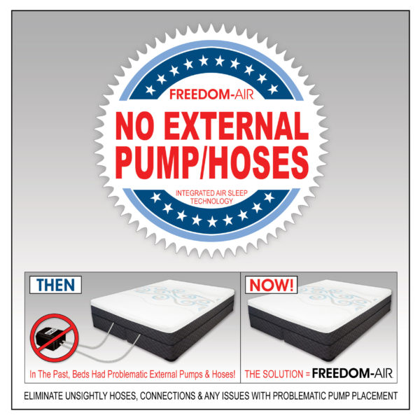 Freedom-Air Fusion Digital Air Bed With No External Pump Or Hoses