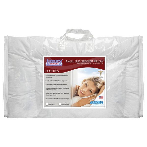 Angel Silk Crescent Pillow 1