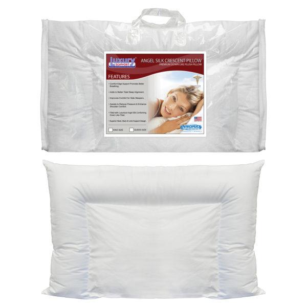 Angel Silk Crescent Pillow 3