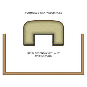 Youthbed 3 Way Padded Rails 1