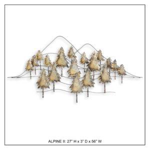 Alpine II - Metal Wall Decor