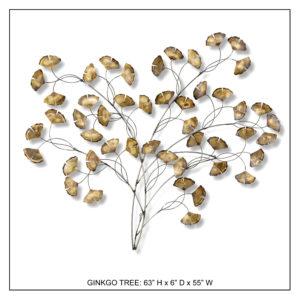 Ginkgo Tree - Metal Wall Decor