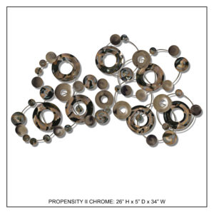 Propensity II Chrome - Metal Wall Decor