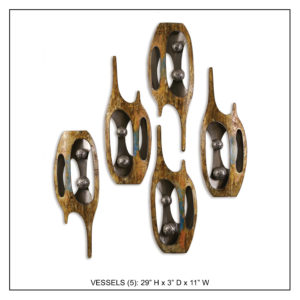Vessels (5) - Metal Wall Decor