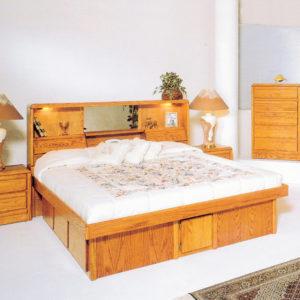 InnoMax Oak Land Jasmine Headboard In Bedroom Setting