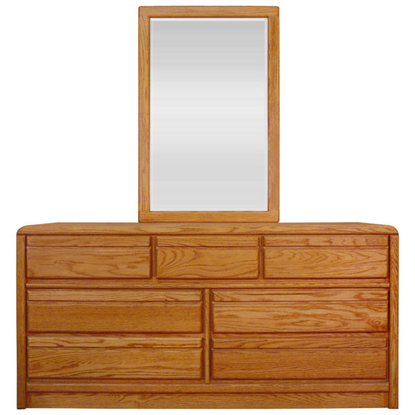 InnoMax Oak Land La Jolla 7 Drawer Dresser & Single Mirror