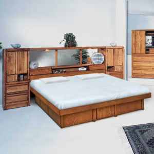 InnoMax Oak Land La Jolla Pier Wall Unit In Bedroom Setting