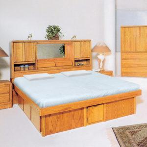 InnoMax Oak Land Magnolia Headboard In Bedroom Setting