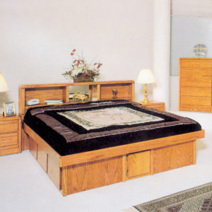 InnoMax Oak Land Tulip Headboard In Bedroom Setting