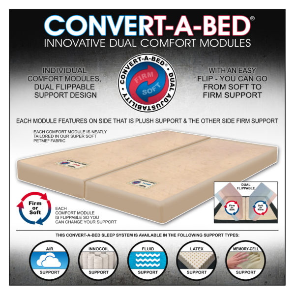 This Mattress Has Convert-A-Bed Comfort Modules