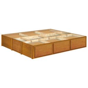 InnoMax Oak Land 14 Inch 6 Drawer Oak Pedestal Bedroom Furniture