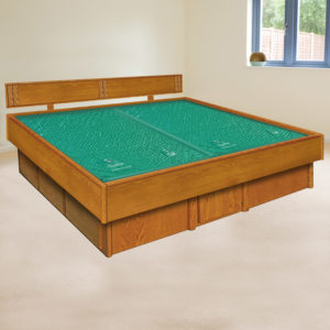 InnoMax Oak Land 5 Board Frame Waterbed In Bedroom Setting