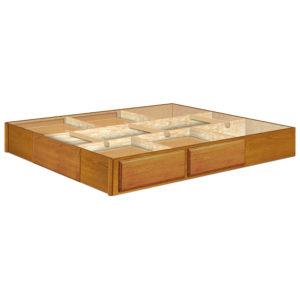 InnoMax Oak Land 9 Inch 4 Drawer Oak Pedestal Bedroom Furniture