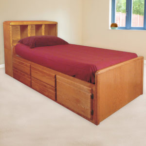 InnoMax Oak Land Bookcase Captains Chest Bed Bedroom Furniture