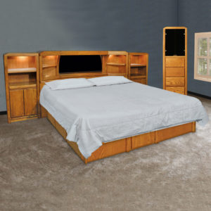 InnoMax Oak Land Marathon Mid-Wall Unit Bedroom Furniture