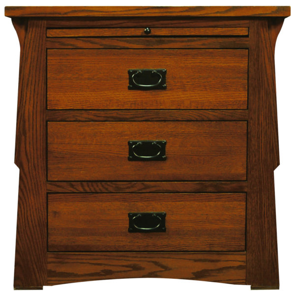 InnoMax Oak Land Mission Creek 3 Drawer Nightstand With Pull Out Tray