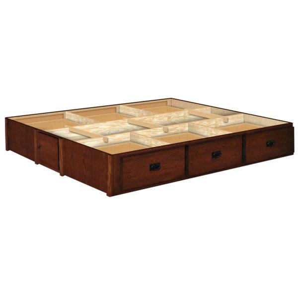 InnoMax Oak Land 14 Inch 6 Drawer Oak Mission Creek Pedestal Bedroom Furniture
