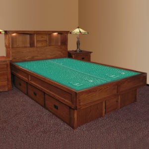 InnoMax Oak Land Mission Creek Waterbed With Bookcase Headboard Bedroom Furniture