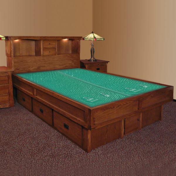 InnoMax Oak Land Mission Creek Waterbed With Bookcase Headboard Bedroom Furniture