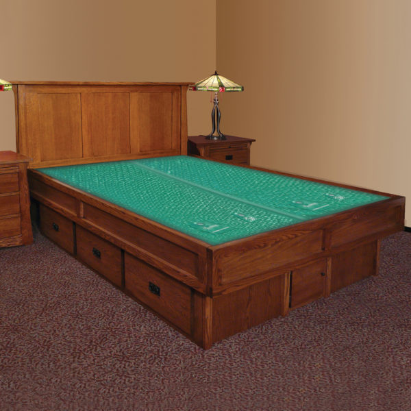 InnoMax Oak Land Mission Creek Waterbed With Panel Headboard Bedroom Furniture