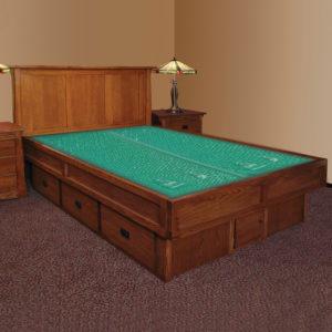 InnoMax Oak Land Mission Creek Waterbed With Panel Headboard Bedroom Furniture