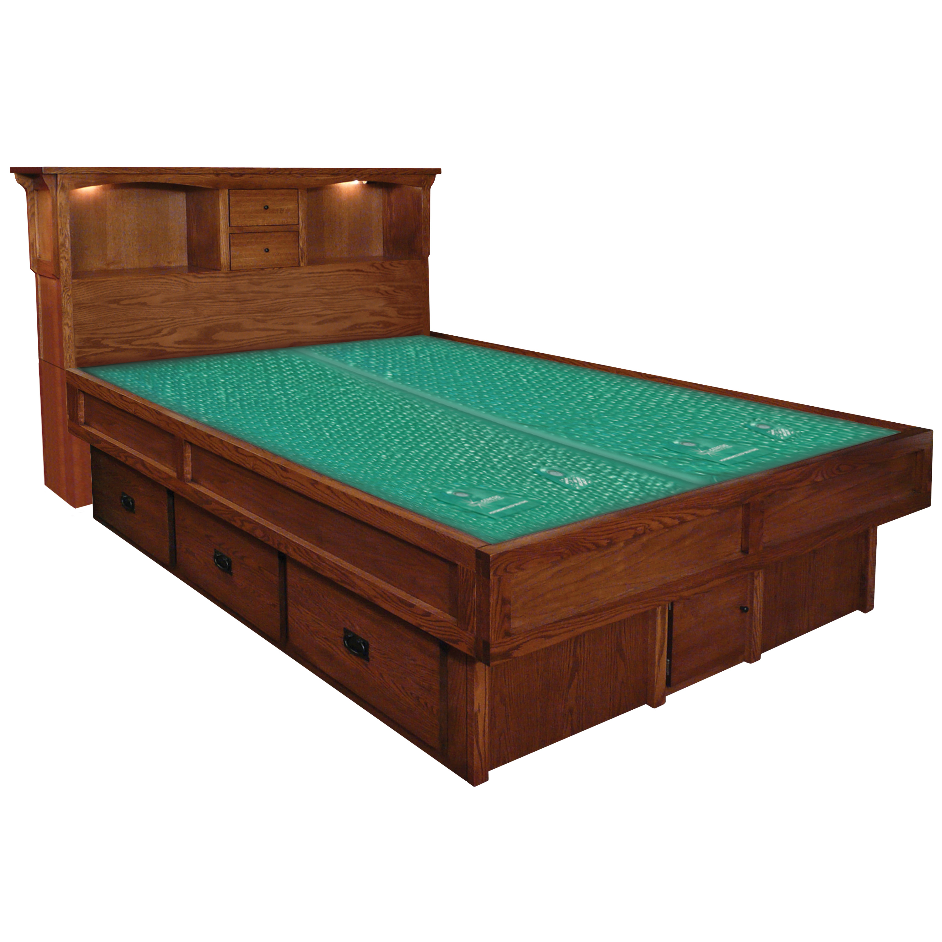 Mission Creek Waterbed With Bookcase Headboard Casepieces