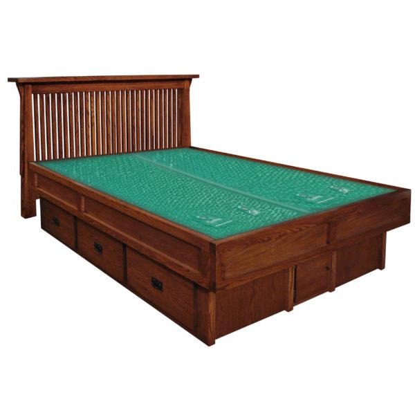 InnoMax Oak Land Mission Creek Waterbed With Slat Panel Headboard Bedroom Furniture
