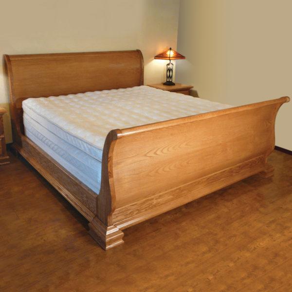 InnoMax Oak Land Venetian Sleigh Bed Bedroom Furniture