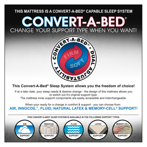 This Mattress Is A Convert-A-Bed® Capable Sleep System