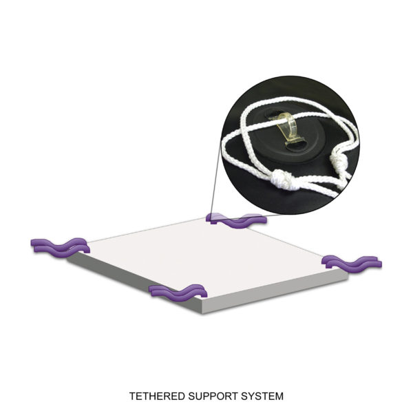 4-Way Hook & Eyelet Tethered Support System