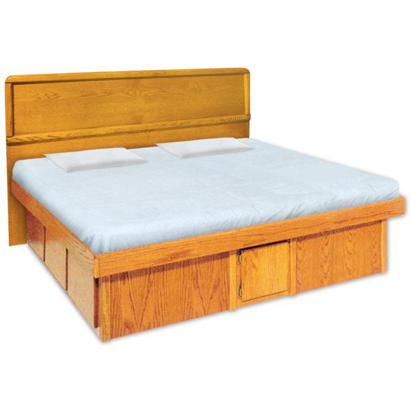 InnoMax Oak Land La Jolla Panel Headboard & Platform Bed Bedroom Furniture