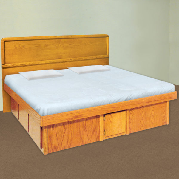 InnoMax Oak Land Panel Headboard In Bedroom Setting
