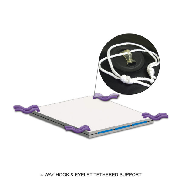 4-Way Hook & Eyelet Tethered Support