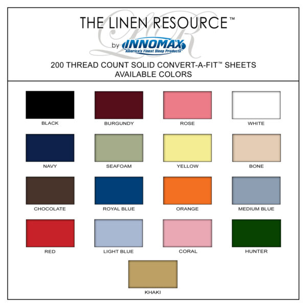 200 Thread Count Color Swatches