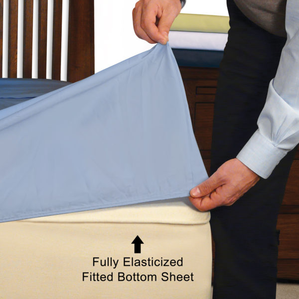 Convert-A-Fit Fully Elasticized Fitted Bottom Sheet