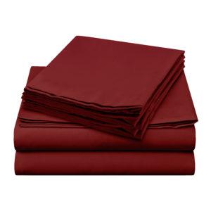 Sheer Elegance Sheets - Burgundy