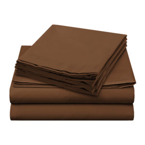 Sheer Elegance Sheets - Coffee