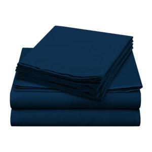 Sheer Elegance Sheets - Navy Blue