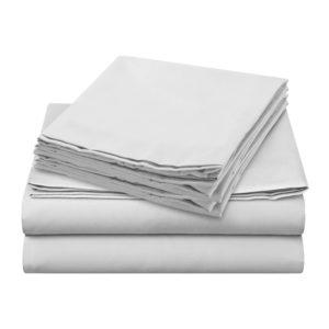 Sheer Elegance Sheets - White