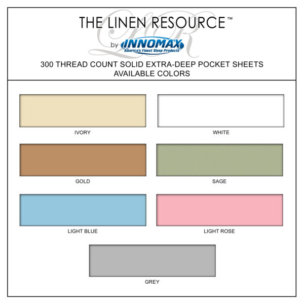 300 Thread Count Extra Deep Pocket Sheet Colors