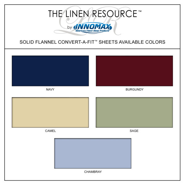 Flannel Convert-A-Fit Sheets Swatch Colors