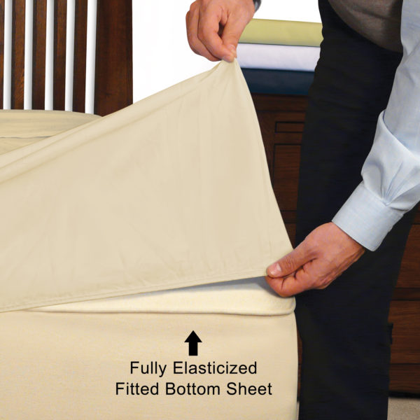 Extra Deep Pocket Fully Elasticized Fitted Bottom Sheet