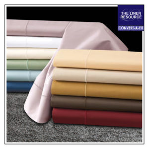 300 THREAD COUNT SOLID CONVERT-A-FIT SHEETS