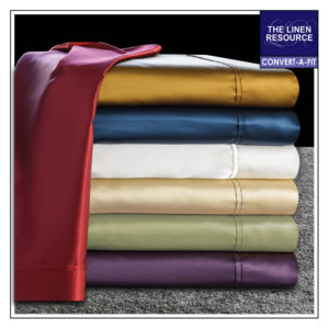 Satin Solid Convert-A-Fit Sheets