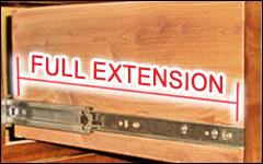 Full Extension, Durable Drawer Glides
