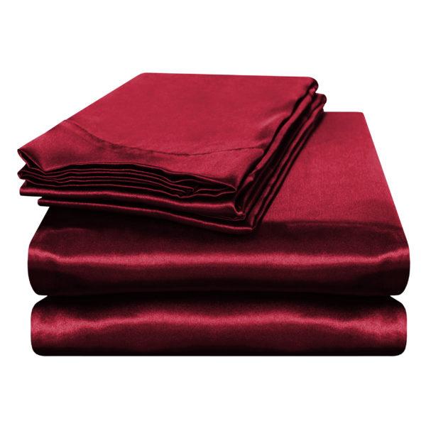 "Solid Satin ""Dura-Soft"" Convert-A-Fit Sheets"